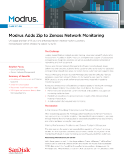 Modrus Adds Zip to Zenoss Network Monitoring