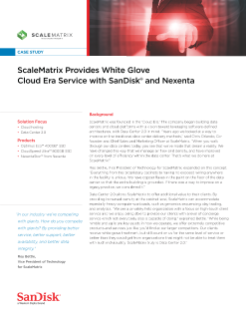 ScaleMatrix Provides White Glove Cloud Era Service with SanDisk and Nexenta