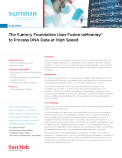 The Suntory Foundation Uses Fusion ioMemory™ to Process DNA Data at High Speed
