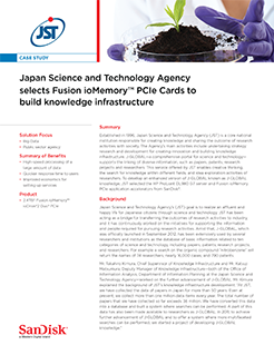 Japan Science and Technology Agency selects Fusion ioMemory™ PCIe Cards to Build Knowledge Infrastructure